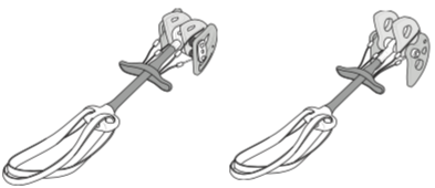 DMM Cams single / double axle. Bron: http://dmmclimbing.com/instructions/CammingDevices.pdf