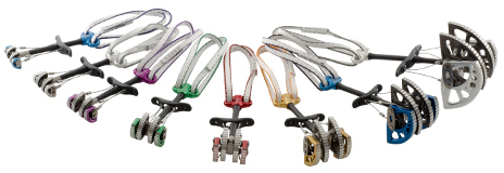 DMM Dragon cams. Bron: http://dmmclimbing.com/products/dragon-cams/